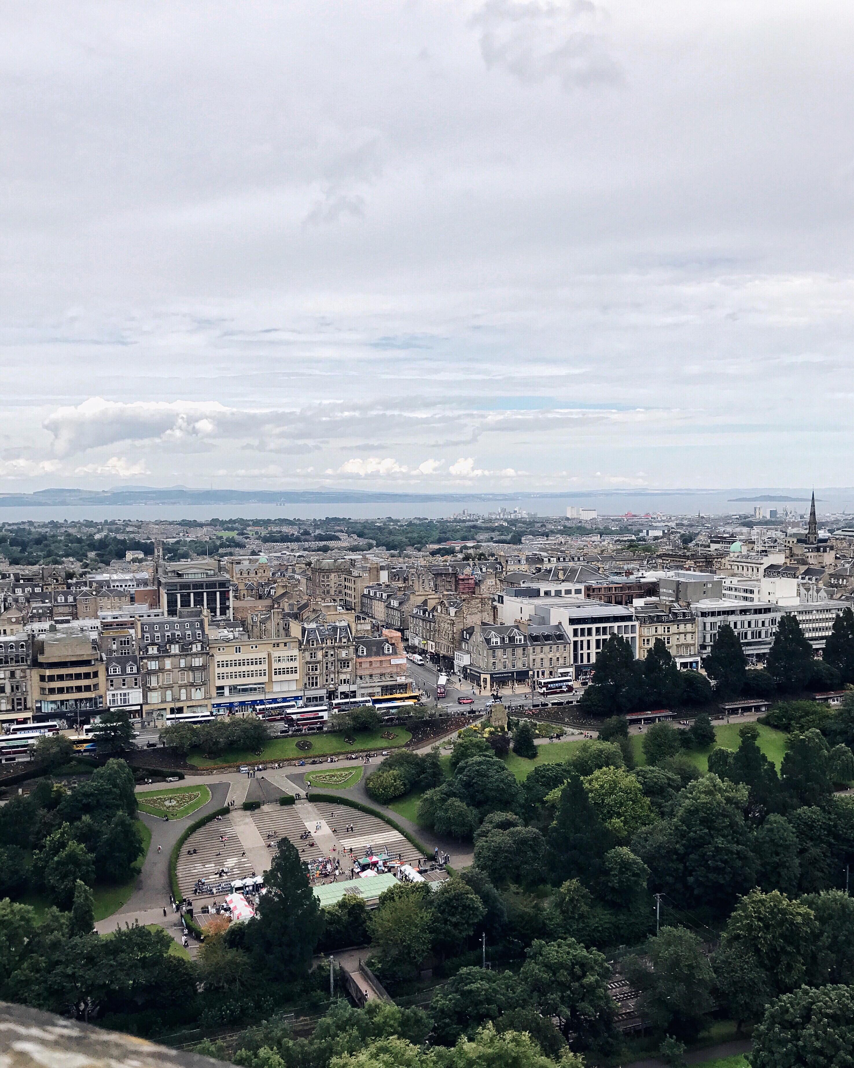aerial view of edinburgh scotland best instagram spots