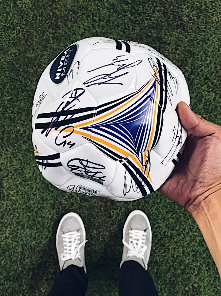 nivea men real madrid soccer futbol team autograph signing el clasico