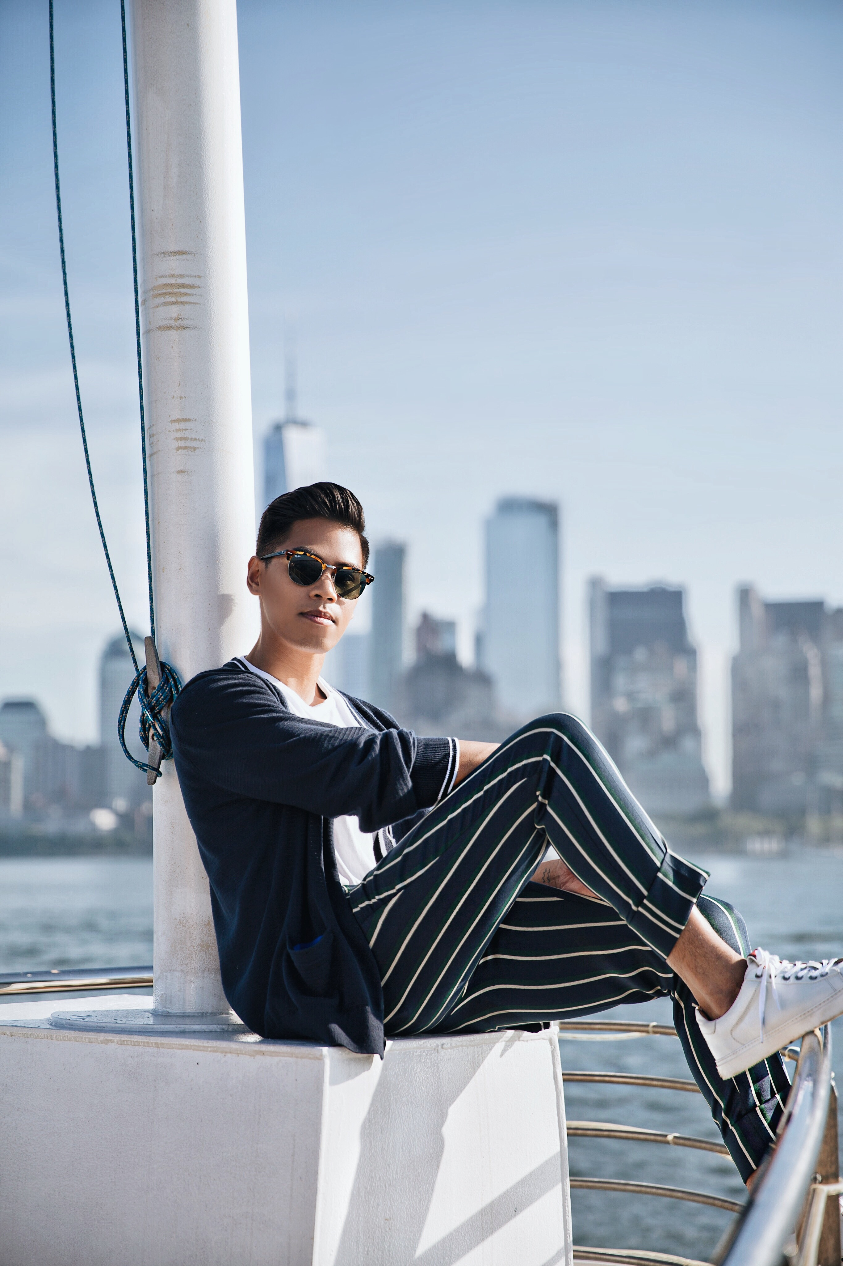 what to wear with striped pants men guys