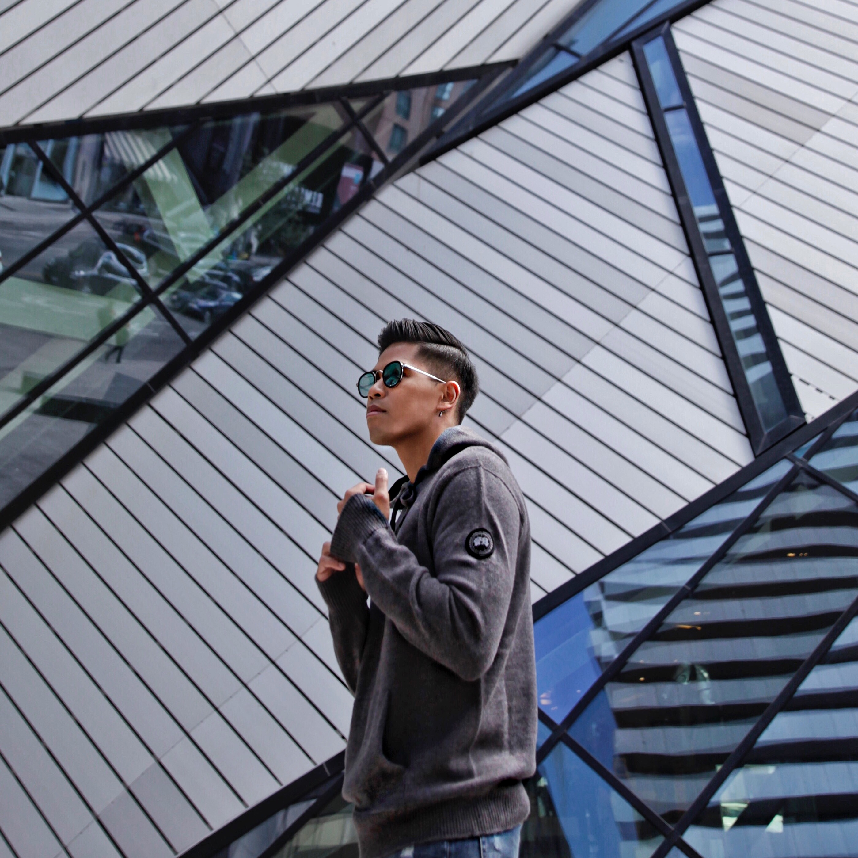 canada goose mens knitwear blogger street style