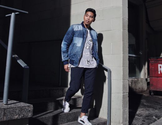 tommy hilfiger mens patchwork denim jacket street style blogger