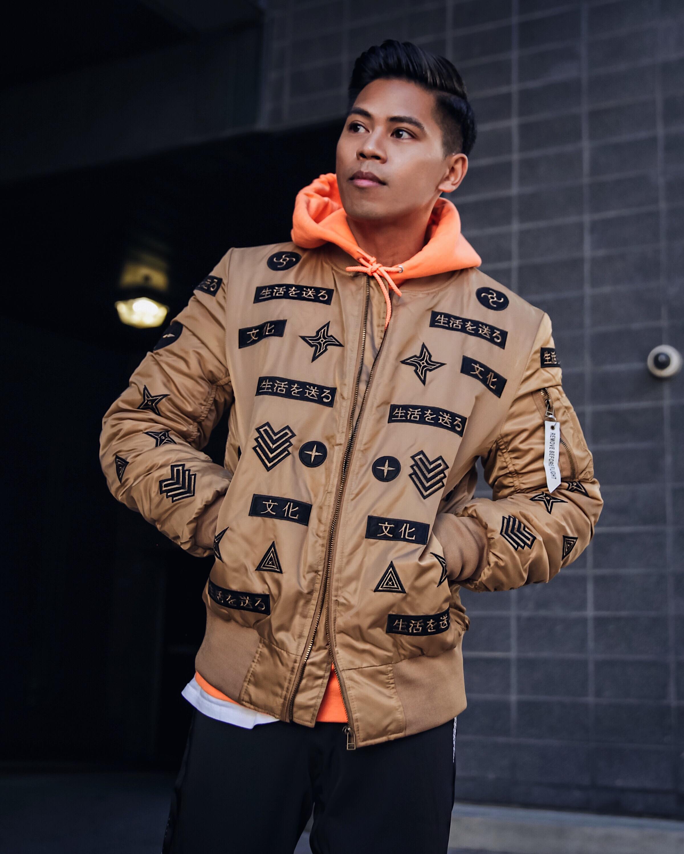 orange champion hoodie street style blogger