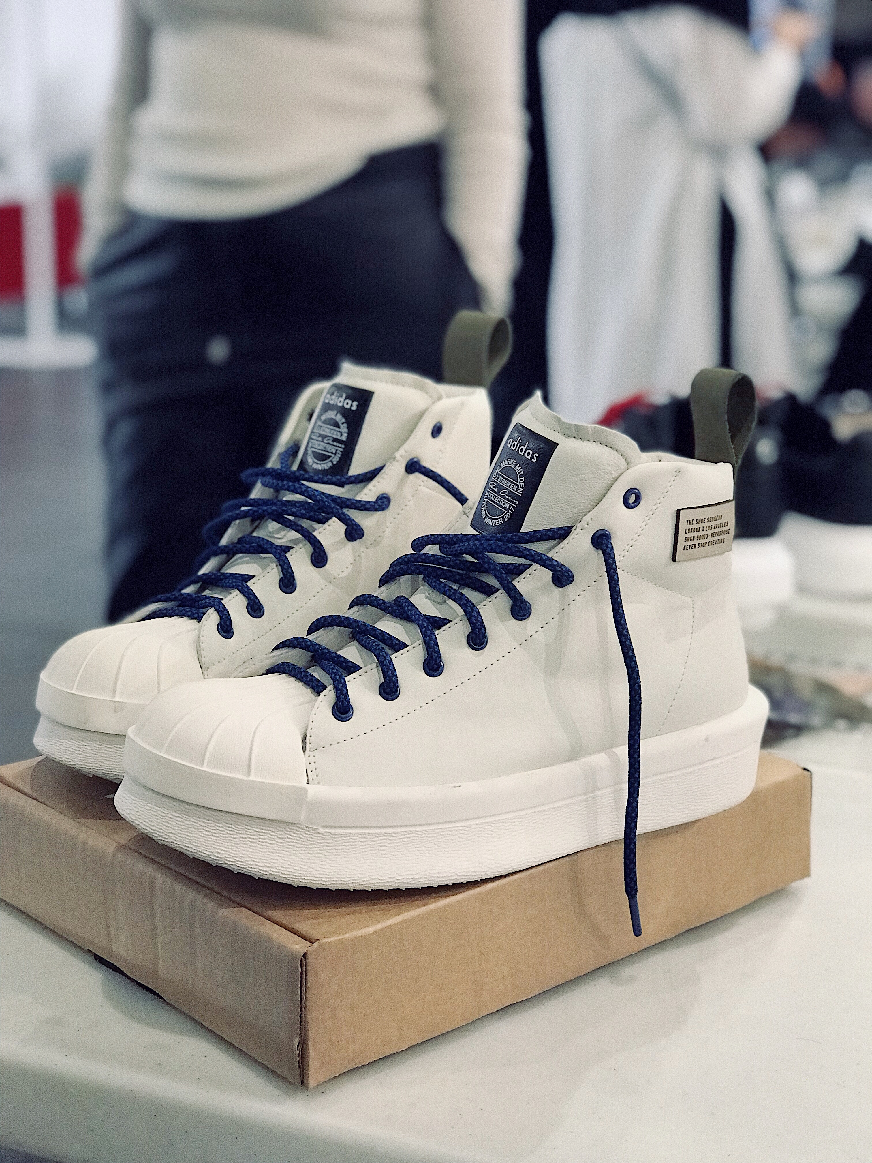 Farfetch x The Shoe surgeon london event customized adidas x rick owens