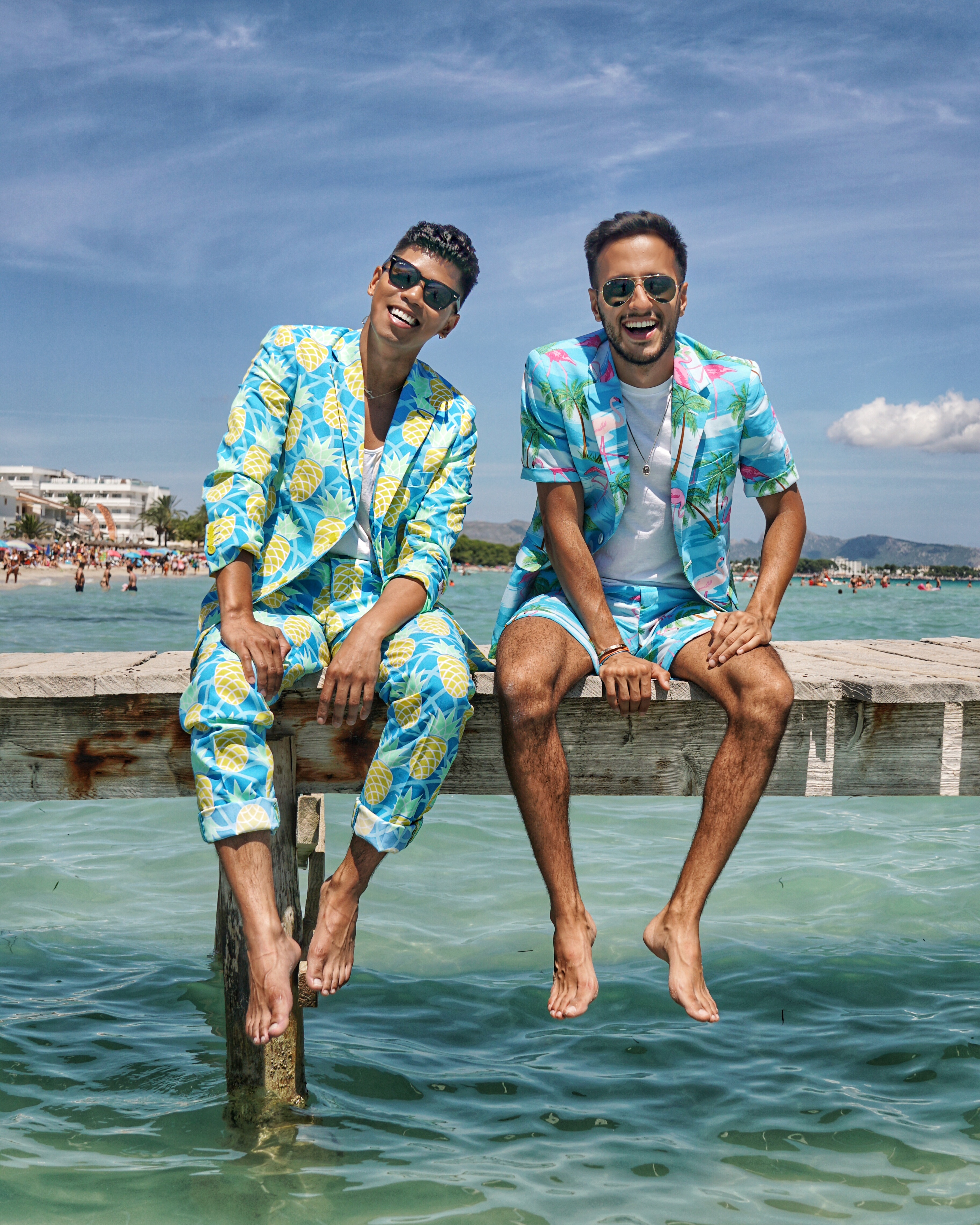how to wear a mens printed suit for summer opposuits street style blogger