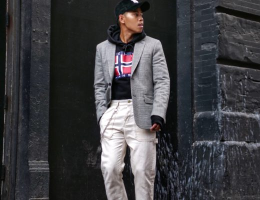 helly hansen x sandro collection how to wear a blazer with a hoodie