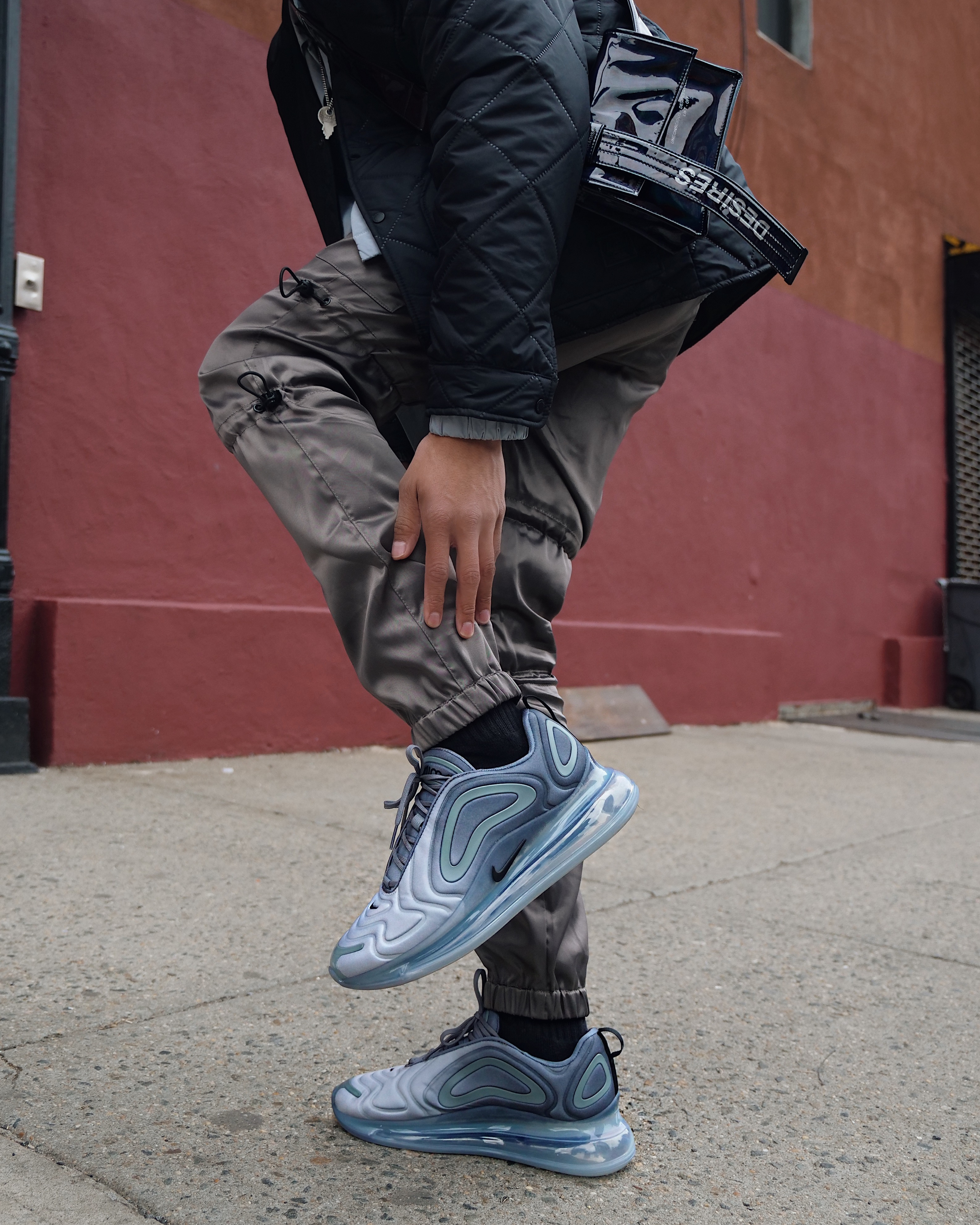 how to wear nike air max 720 cool grey streetstyle